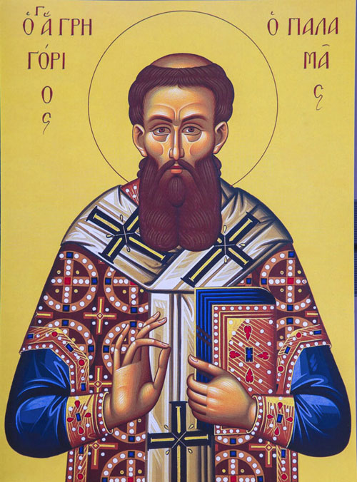 An icon of St. Gregory of Palamas - 2nd Sunday of Great Lent.