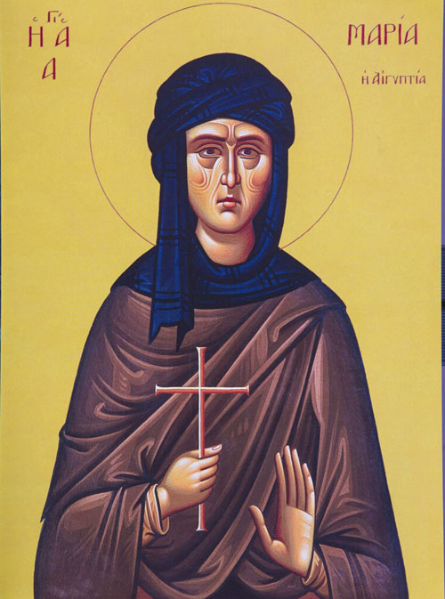 An icon of St. Mary of Egypt - 5th Sunday of Great Lent.