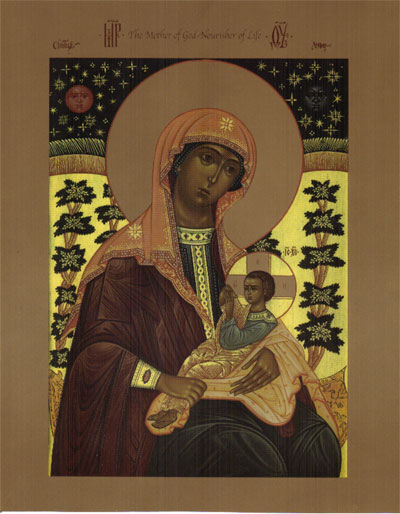 Nourisher of Life Mother of God Icon.