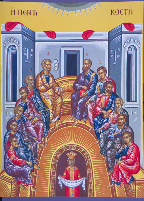 An icon of Pentecost.