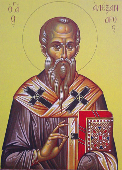An icon of St. Alexander the Patriarch of Constantinople