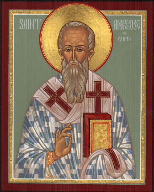 An icon of Saint Ambrose of Milan