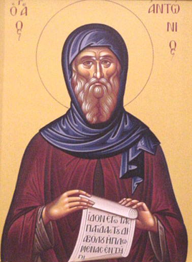 An icon of St. Anthony the Great.