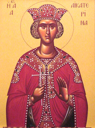 An icon of St. Catherine the Great, Martyr.