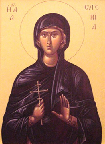 An icon of St. Eugenia of Rome.