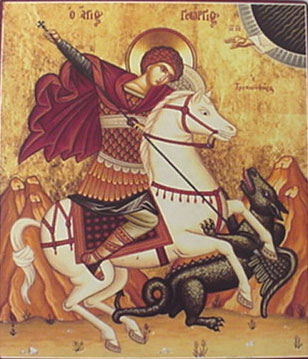 An icon of St. George />