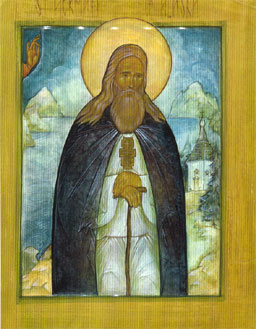 An icon of St. Herman of Alaska.