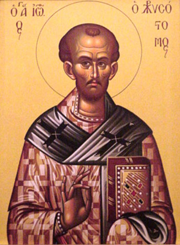 An icon of St. John Chrysostom.