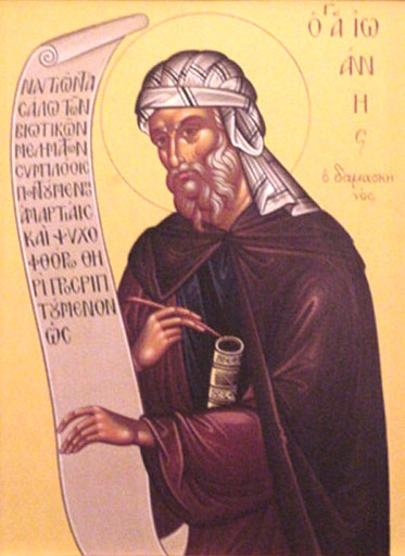 An icon of St. John Damascene.