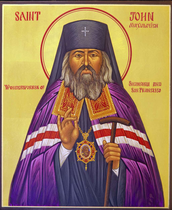 An icon of St. John Maximovich Wonderworker of Shanghai and San Francisco.