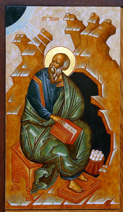 An icon of St. John the Evangelist