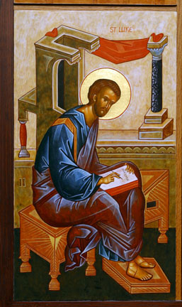 An icon of St. Luke the Evangelist