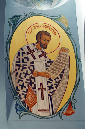 An icon of Saint John Chrysostom
