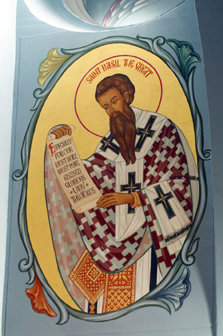 An icon of St. Basil the Great
