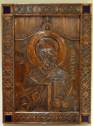 An icon of St. Nicholas.