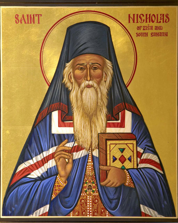 An icon of St. Nicholas of Zica and South Canaan.