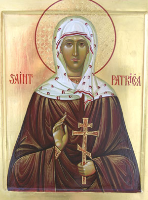 An icon of St. Patricia
