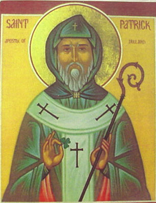 An icon of St. Patrick of Ireland