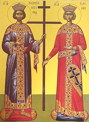An icon of Sts. Constantine and Helen.