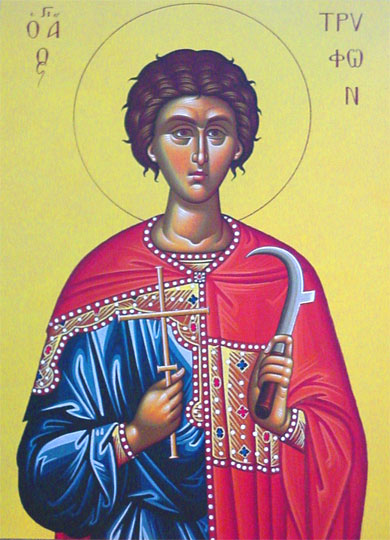 An icon of St. Tryphon