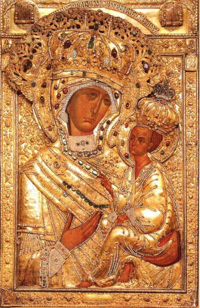 The Wonder-working Tikhvin Icon Of The Mother Of God.
