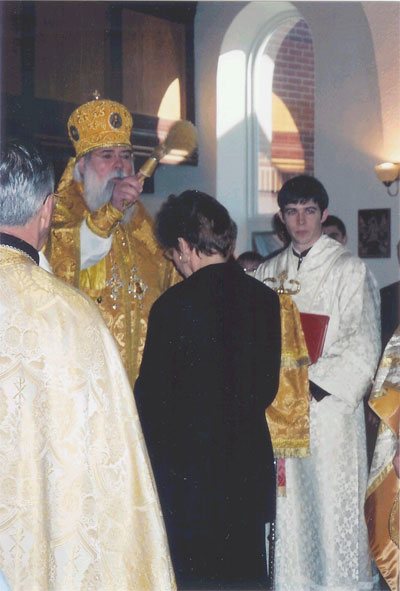 Blessing by Archbishop Job