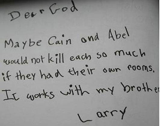 Letters to God.