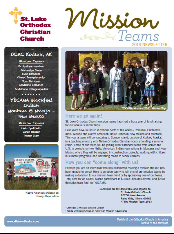 Mission Team Flyer.