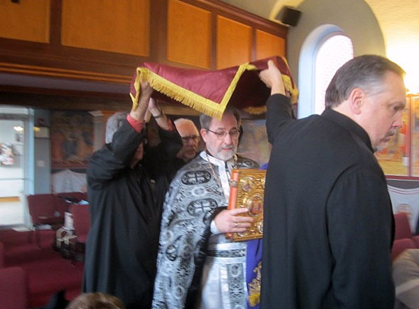 Scene From Procession with the Burial Shroud.