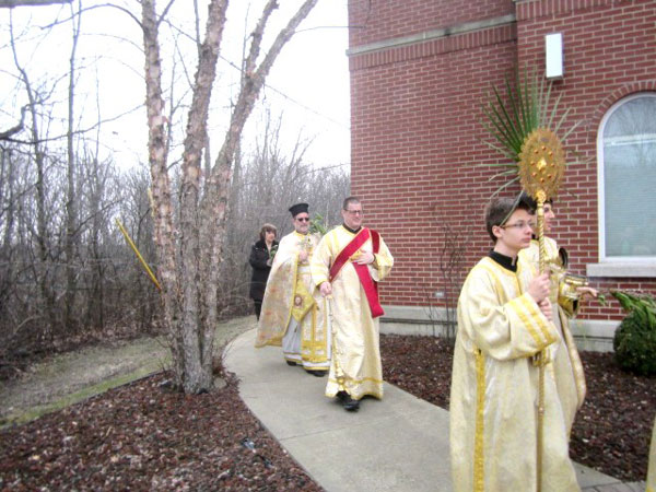 Scene from Palm Sunday.