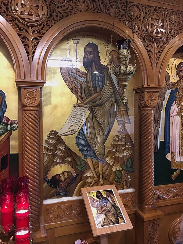Scene from Parish Field Trip To View Icon Of St. John The Forerunner
