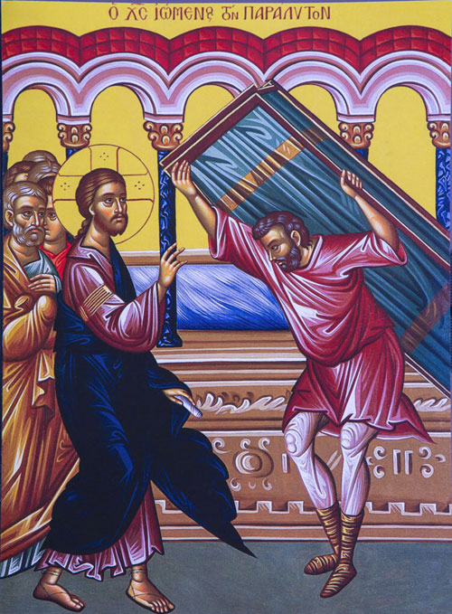 An icon of The Paralytic - 4th Sunday of Pascha.